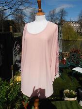 BNWT Antthony Designs Lace Sleeve Kimono Top Lagenlook Blush Pink Size XL/2XL