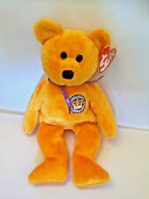 Collectable retired TY Celebrations Queens golden jubilee plush beanie bear vgc