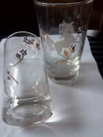 Unicorn Tumbler Drinking Etched -vintage -Glasses-set of 2---------------11