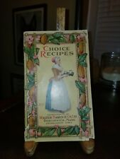 Vintage 1913 Walter Baker Co. CHOCOLATE Recipe Booklet