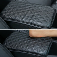 Car Armrest Storage Console Box Top Mat Liner Pad PU Leather Cover Cushion Black