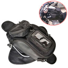 Magnetic Motorcycle MotorBike Travel Saddlebag Oil Fuel Tank Bag Phone Black