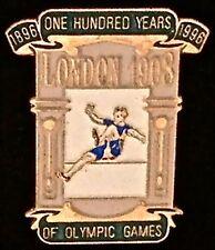 Pin Badge~London 1908-One Hundred Years of Olympic Games~1896-1996...Atlanta