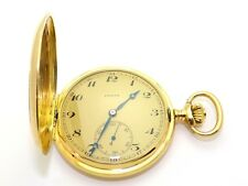 18k Yellow Gold Zenith Hunter Case Mechanical Hand-Winding Pocket Watch 49 mm