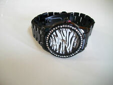 Fashion Designer Zebra print with black finish 3D Boyfriend Geneva Watch