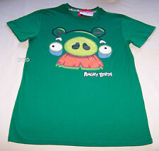 Angry Birds Minion Pig Mens Green Printed T Shirt Size S New
