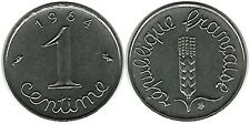 FRANCE FLORE EPI DE BLE EAR OF CORN CINQUIEME REPUBLIQUE ARMOIRIE 1 CENTIME 1964