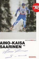 Aino-Kaisa Saarinen:Olympia Silber 2014, Olympia Bronze 2006+2010 Skilanglauf