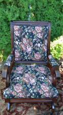 19th Century Antique Victorian Eastlake Mahogany Rocking Chair