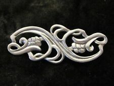 Beautiful Art Nouveau Style Pewter Brooch Pin by Seagull Canada