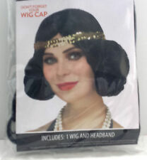 Black Flapper Wig Costume Accessory Ages 14+