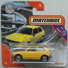 Matchbox 1976 Honda Civic CVCC gelb Neu/OVP MBX Klassiker Kleinwagen Auto Car 76