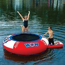Inflatable Water Trampoline 10' Lounge Bouncer Lake Raft Kids Floating Island