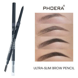 Phoera Ultra Slim Eye Brow Liner Pencil Spoolie Brush Retractable Makeup Eyebrow