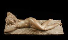 Renato JAVARONE femme nue allongée sculpture art déco 1930 Naked woman lyin 73cm