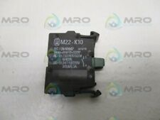 MOELLER M22-K10 CONTACT BLOCK *USED*