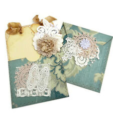NEW Junk Journal Ephmera-Wallpaper Envelope-Book Page Pocket-Tags-Paper Clip