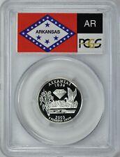 2003-S ARKANSAS SILVER PROOF QUARTER 25c PCGS PR69DCAM (Flag)