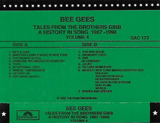 BEE GEES TALES FROM BROTHERS GIBB HISTORY IN SONG 1967-1990  PROMO CASSETTE VOL4
