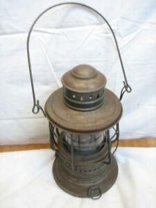 City Metal Tin Navy Deck Dark Lantern Hanging Globe Lamp Light Shade Shield Kero