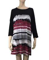 YVONNE BLACK T- SHIRT TUNIC TOP/DRESS SIZE 14