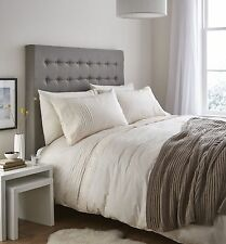 Cream SUPERKING Duvet set, Classic Lace across the top. (Cover & 2 pillowcases)