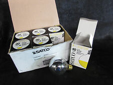"SATCO G-25 3861 SILVER CROWN GLOBE LIGHT 120V 40W 3"" DIA MED BASE(LOT OF 6)*NIB*"
