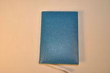 Blue leather medium address book