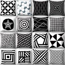 LK _ NERO & Bianco Geometrico Cuscino decorativo Copricuscino CASA DIVANO