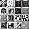 EE_ UK_ Black and White Geometric Cushion Throw Pillow Cover Case Home Sofa Deco