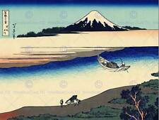 KATSUSHIKA HOKUSAI TAMA RIVER MUSASHI PROVINCE OLD ART PAINTING PRINT 1801OM