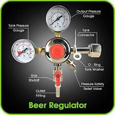 "Co2 Beer Regulator Dual Gauge Keg - 0 to 60 Psi Cga-320 Inlet 3/8"" O.D."