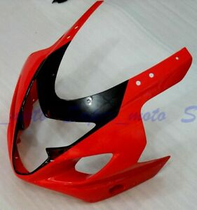 Front Fairing Plastic Nose Fit For Suzuki GSXR600 GSXR750 K4 2004-2005 Red Black