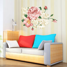 DIY Rich Peony Flowers Removable Wall Stickers Decals Wall Graphics Home Decor