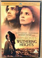 Wuthering Heights DVD 1992 Emily Bronte Drama Film Classico Con Ralph Fiennes
