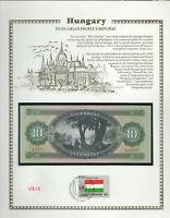 Hungary 10 Forint 1969 P 168d UNC w/FDI UN FLAG STAMP Fancy serie A.741  019509
