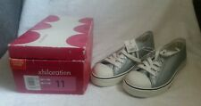 Xhilaration Silver Leather Sport Casual Sneakers Mens 9 / Women 11 Brand New