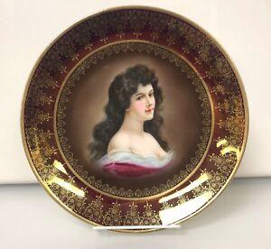 Antique Royal Vienna Portrait Plate Amorosa