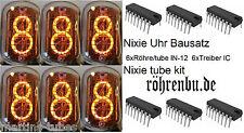 NIXIE Uhr Bausatz Röhre 6x IN12 + 6xTreiber tube clock kit DIY HH:MM:SS *DE DHL*