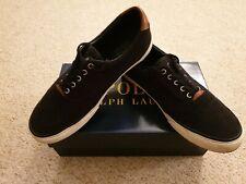 Mens Ralph Lauren Low Canvas/leather Shoes. UK 8. Black.