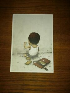 DRAN postcard / show card authentic (POW BANKSY INVADER un-signed street art