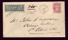 CANADA 1891 REGISTERED COVER