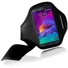 Fascia da braccio Sport per Samsung Galaxy Note 4 IV Armband fitness corsa Nera