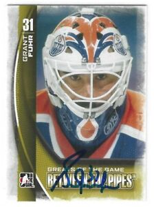 Grant Fuhr Signed 2013/14 Between The Pipes Card #110 Edmonton Oilers
