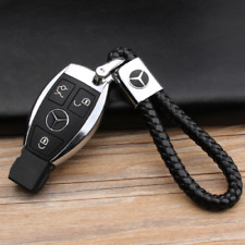 Leder Schlüsselanhänger für Mercedes-Benz E-Klasse C-Klasse S-Klasse CLA Schwarz