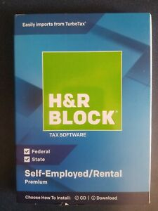 H&R Block Premium 2018 Self-Employed/Rental Property Owners Tax Software
