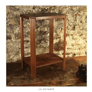 Console dans le style Art Déco - cuir et bois