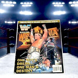 SHAWN MICHAELS WRESTLING AUTOGRAPHED MAGAZINE WWF WWE HEARTBREAK KID HBK