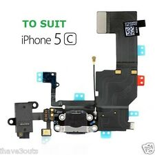 iPhone 5C Data Charger Dock Audio Jack Headphone Charging Port Flex Part Black