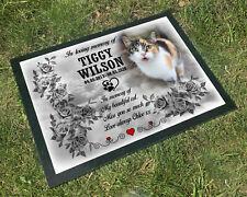Personalised Grave headstone, Granite grave marker. Cat feline pet loss memorial